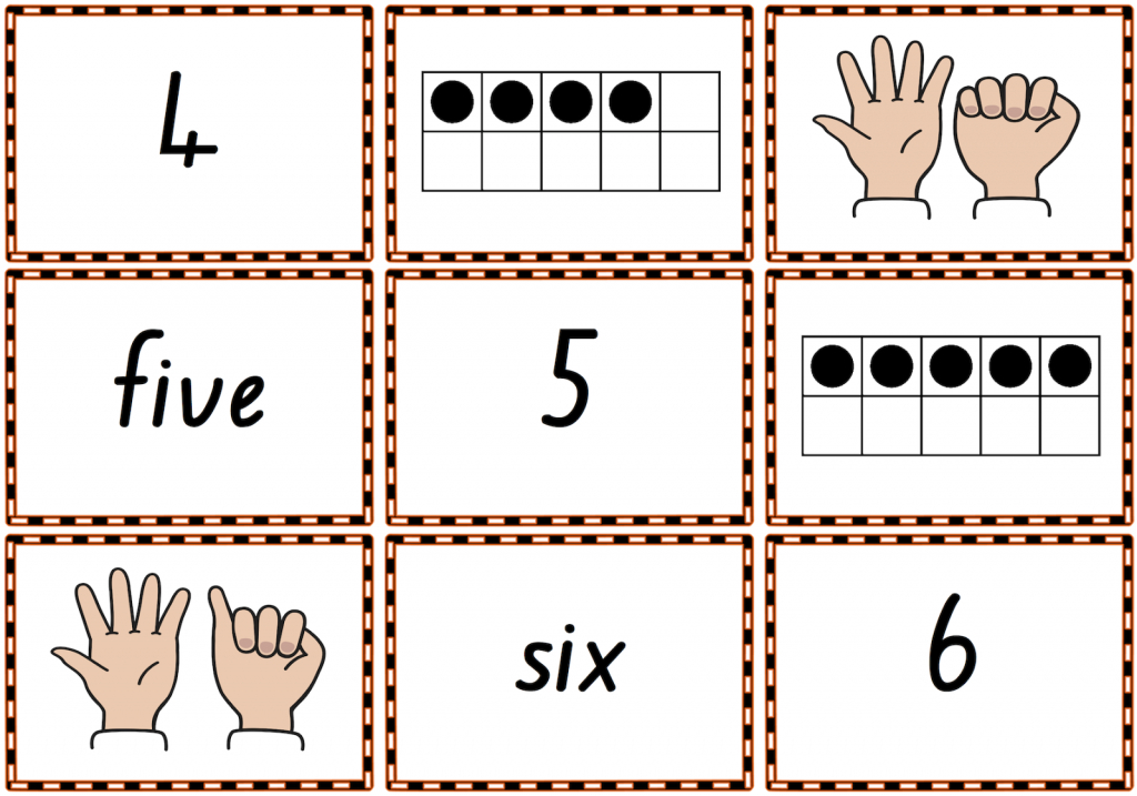 0–10 Memory Match Or Snap Game Cards To Practise Numbers, Number | Free Printable Snap Cards