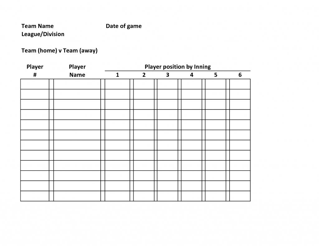 005 Softball Lineup Template Excel Unbelievable Ideas Card Batting | Printable Softball Lineup Cards