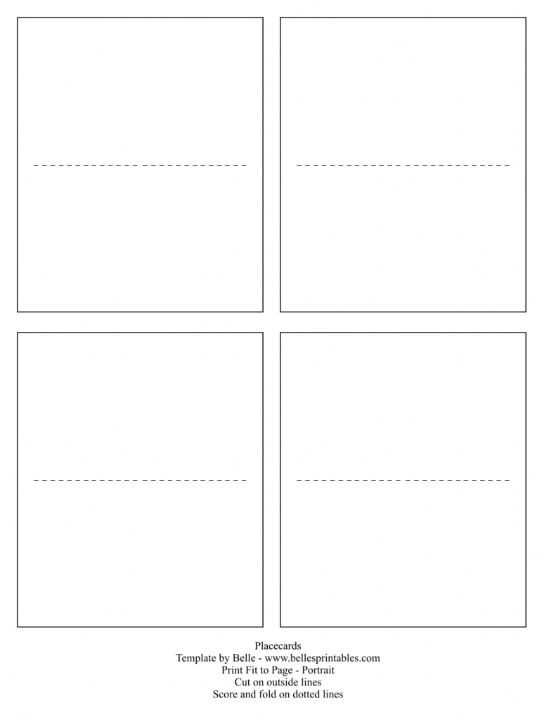 017 Template Ideas Table Name Archaicawful Cards Free Place Card | Free Printable Place Cards Template