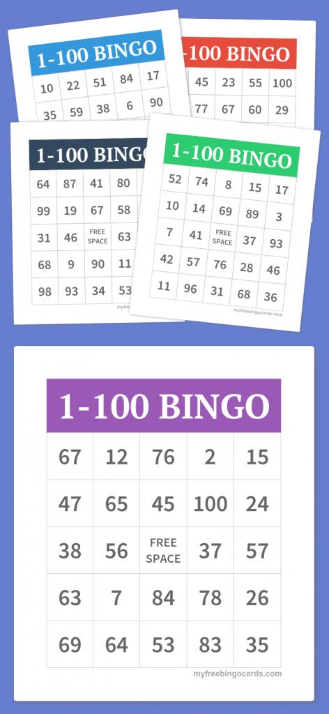 1-100 Bingo | Party Games | Free Bingo Cards, Bingo, Free Printable | Printable Bingo Cards 1 100
