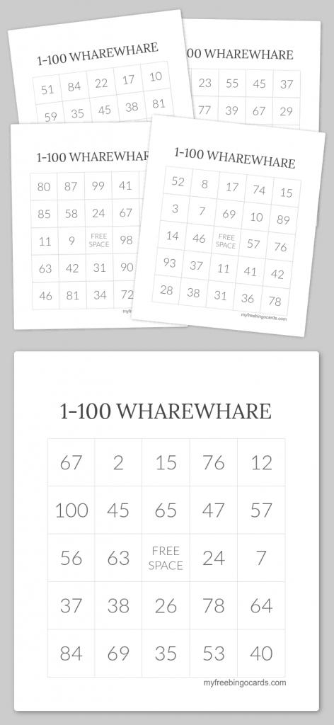 1-100 Wharewhare Bingo | Wharewhare 1-100 | Free Printable Bingo | Printable Bingo Cards 1 100