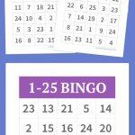 1 25 Bingo | Diy | Free Bingo Cards, Bingo, Free Printable Bingo Cards | Printable Bingo Cards 1 20