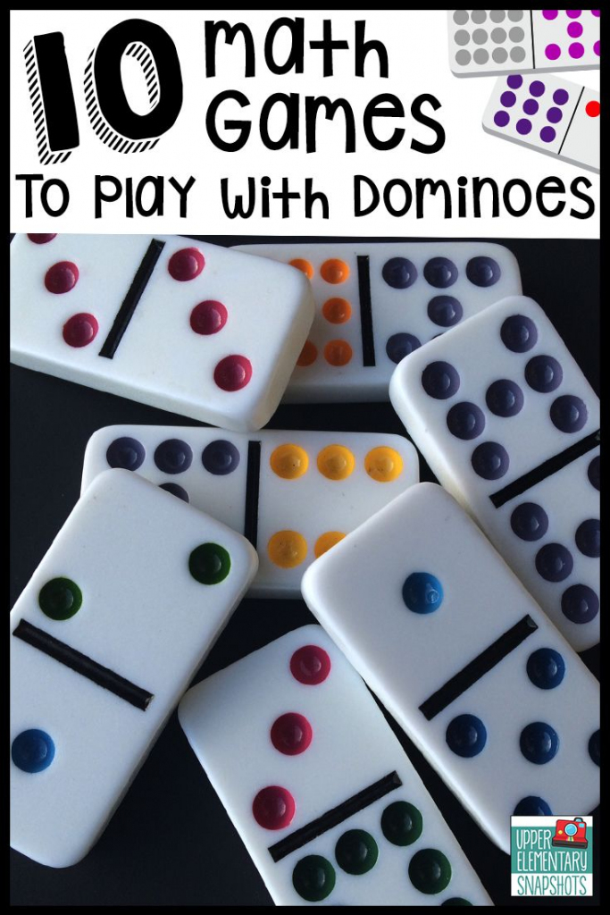 10 Math Games To Play With Dominoes   5Th Grade   Math, Math Games   Printable Domino Cards For Math