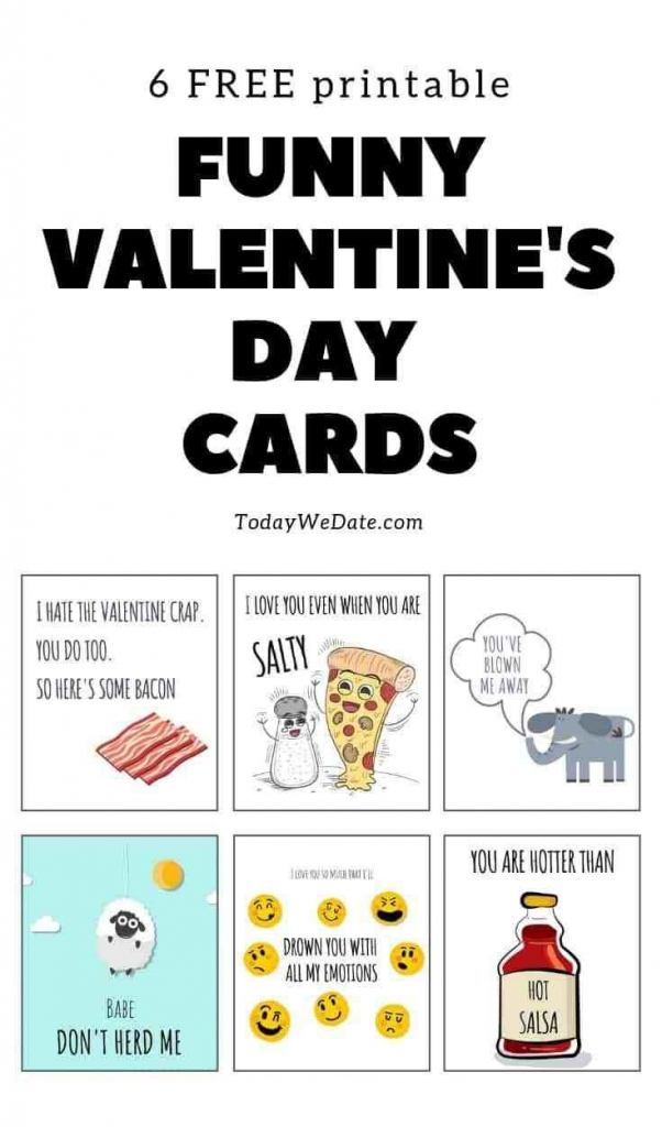 105 Funny Valentine's Day Printables To Surprise Your Sweetheart | Free Funny Printable Cards