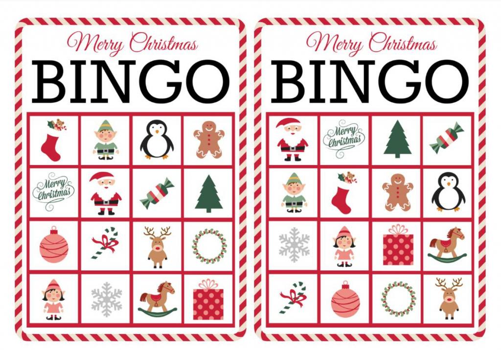 11 Free, Printable Christmas Bingo Games For The Family - Free | Printable Bingo Cards 1 100