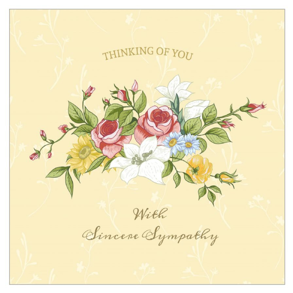11 Free, Printable Condolence And Sympathy Cards | Free Printable Thinking Of You Cards