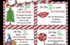 12 Days Of Christmas Cards Printable
