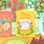 12 Free, Printable Easter Cards For Everyone You Know | Printable Greek Easter Cards