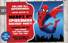 Spiderman Thank You Cards Printable