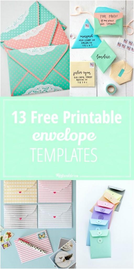 13 Free Printable Envelope Templates | Printables | Templates | Free Printable Greeting Card Envelope Template