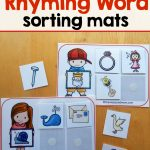 14 Free Sorting Mats For Rhyming Words   The Measured Mom | Rhyming Picture Cards Printable