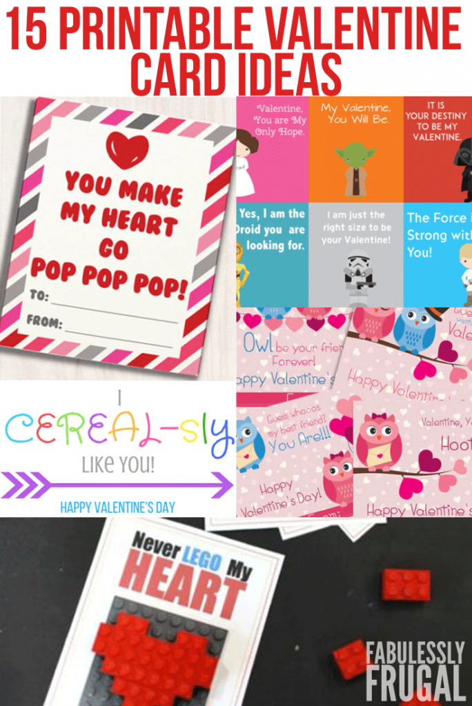 15 Free Printable Valentine's Day Cards For School - Fabulessly Frugal   Deal A Meal Cards Printable