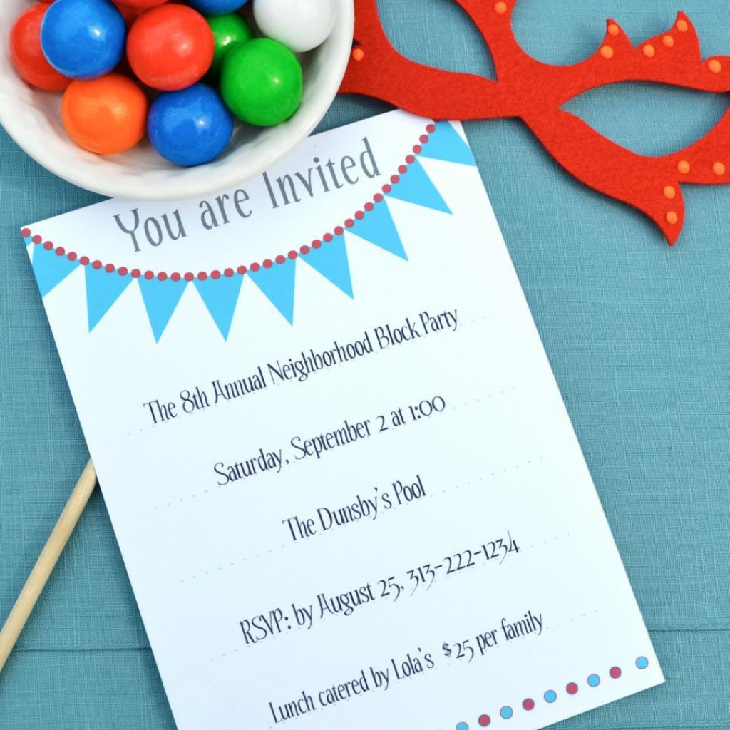 17 Free, Printable Birthday Invitations | Free Printable Birthday Invitation Cards
