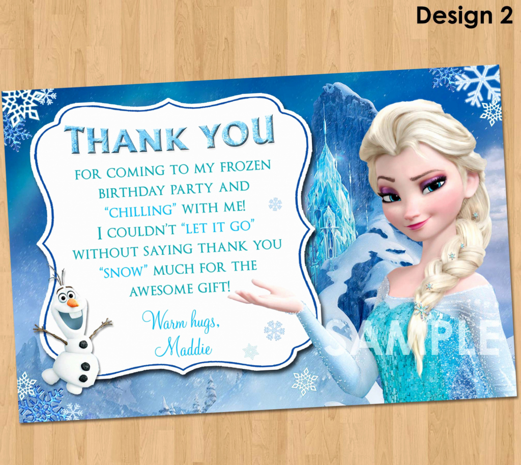 18 Lovely Printable Frozen Birthday Card – Harbourtech | Disney Frozen Thank You Cards Printable