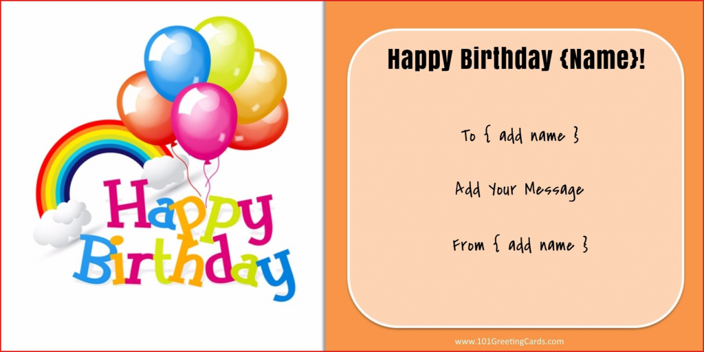 18 Stunning Birthday Card Generator : Lenq | Printable Birthday Card Maker