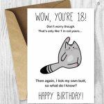 18Th Birthday Printable Cards Printable Funny Birthday Cards | Etsy | Printable Funny 70Th Birthday Cards