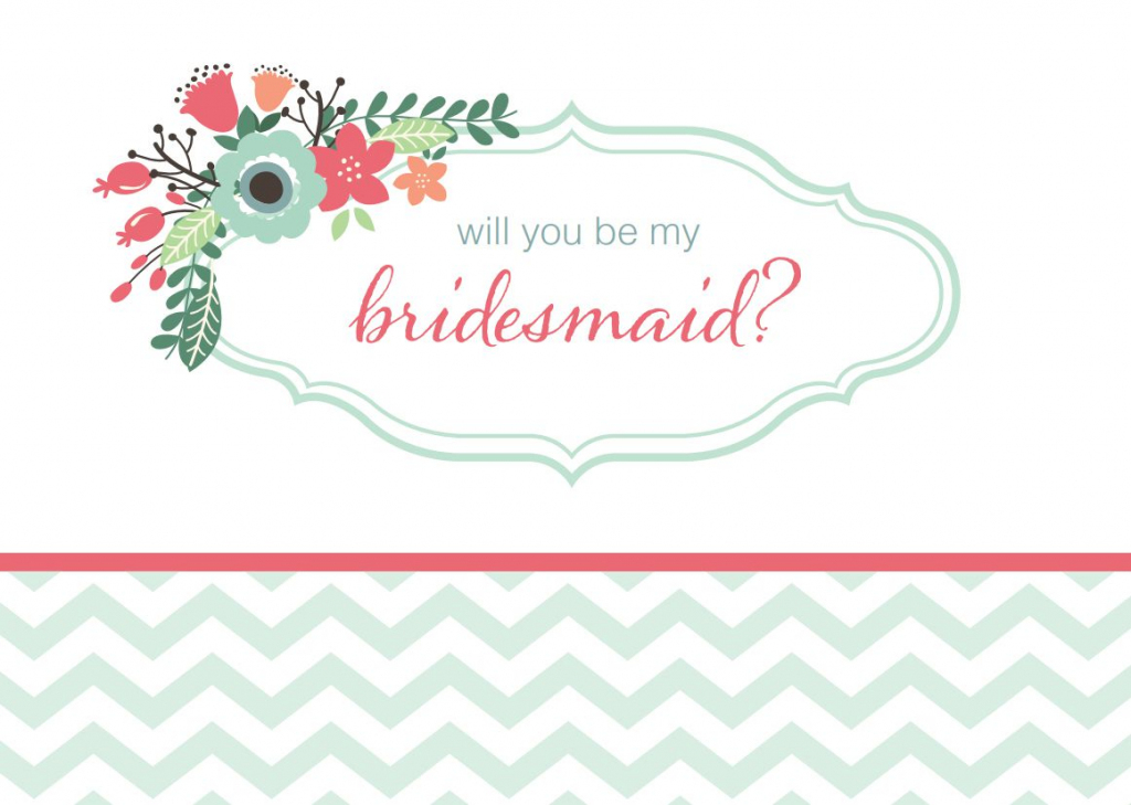 19 Free, Printable Will You Be My Bridesmaid? Cards | Printable Bridesmaid Proposal Cards