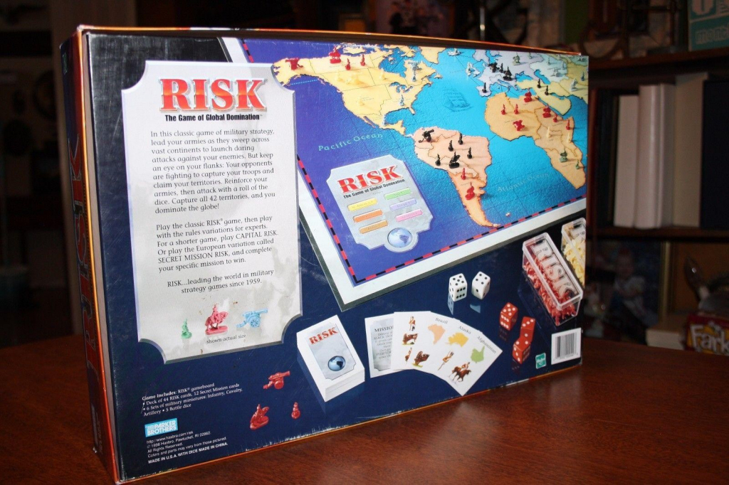 1998 Risk Board Game - The Game Of Global Domination - Military | Risk Secret Mission Cards Printable