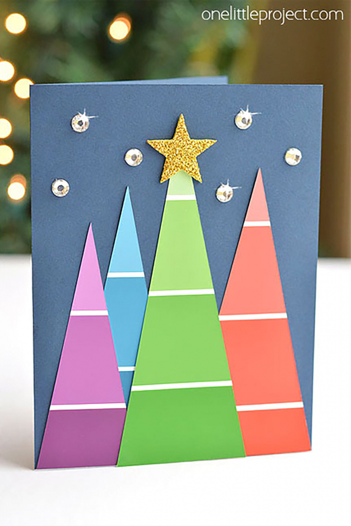 20 Diy Christmas Card Ideas - Easy Homemade Christmas Cards We're | Create Your Own Free Printable Christmas Cards