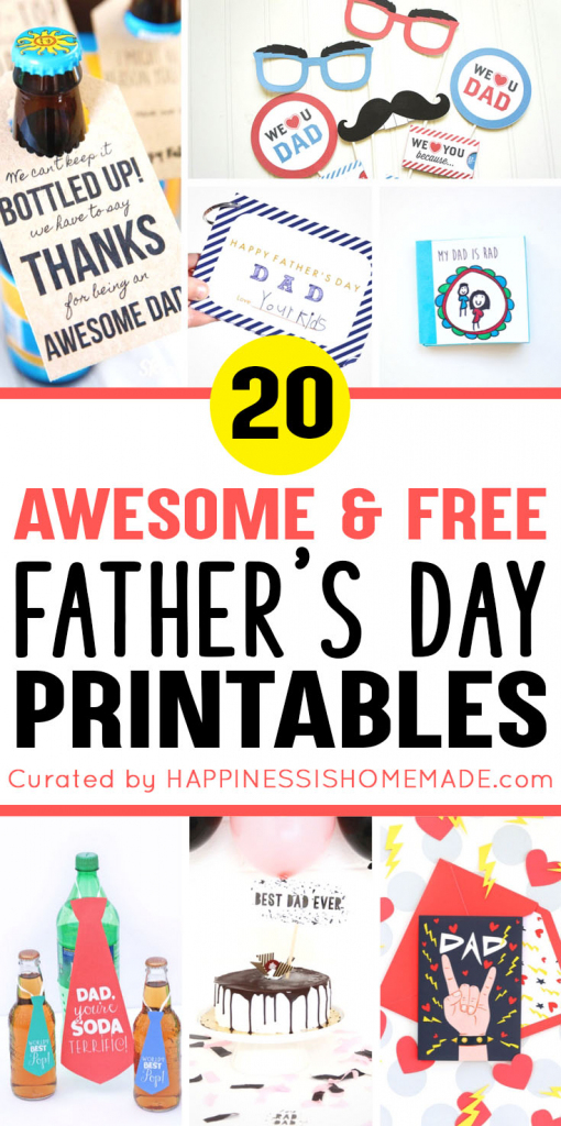 20+ Free Father's Day Printables - Happiness Is Homemade | Free Printable Fathers Day Cards For Preschoolers