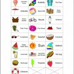 200 Printable Summer Themed Picture Bingo Cards 2 Per Page | Etsy | Printable Bingo Cards 2 Per Page