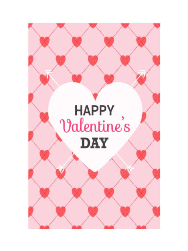 2019 Valentine's Day Card Template - Fillable, Printable Pdf & Forms | Valentine's Day Card Printable Templates