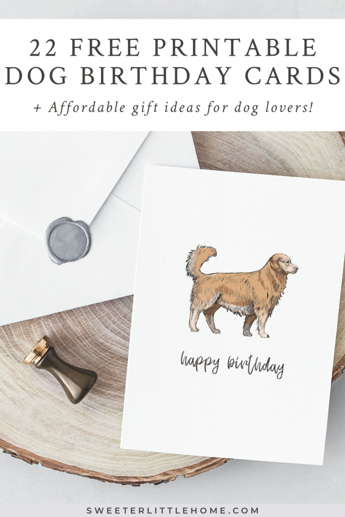 22 Free Printable Dog Birthday Cards | Free Printables & Papercrafts | Printable Dog Birthday Cards