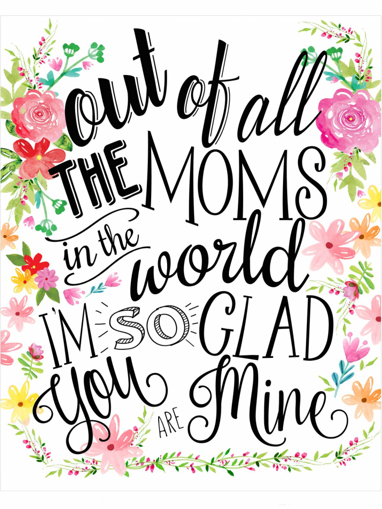 23 Mothers Day Cards - Free Printable Mother's Day Cards | Free Printable Mothers Day Cards To My Wife