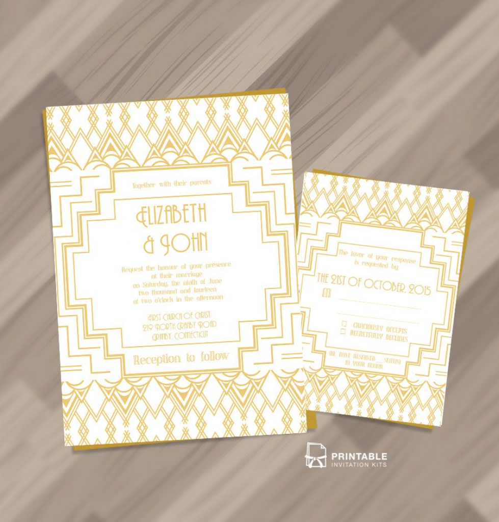 25 Free Printable Wedding Invitations | Free Printable Damask Place Cards