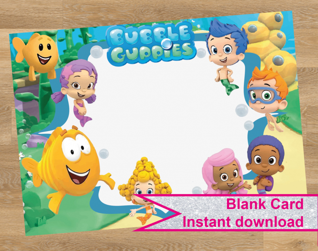 25 Images Of Bubble Guppies Birthday Invitations Template | Netpei | Bubble Guppies Printable Birthday Cards