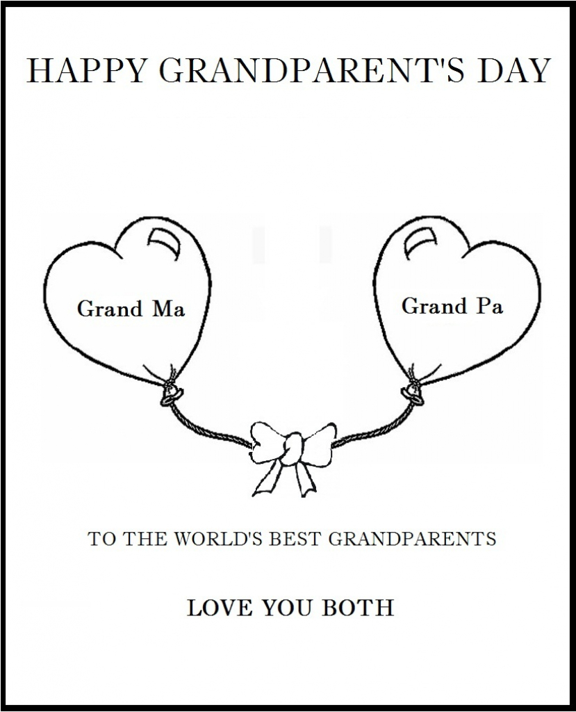 25 Images Of Grandparents Day Card Template   Bfegy   Grandparents Day Invitation Cards Printable