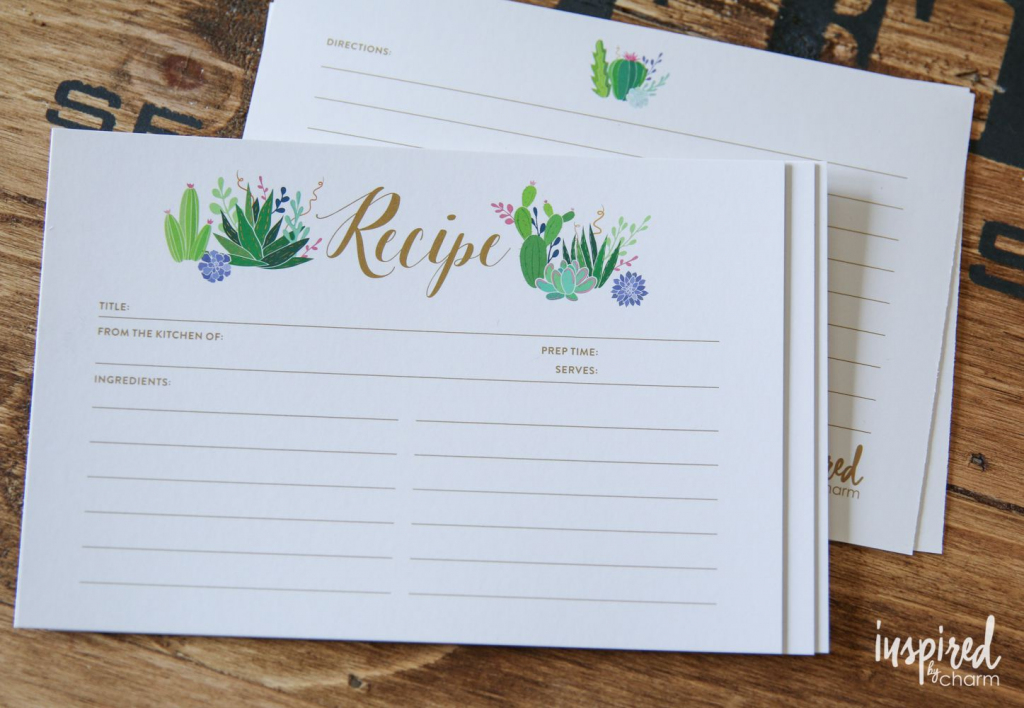 27 Sets Of Free, Printable Recipe Cards | Free Printable Photo Cards 4X6