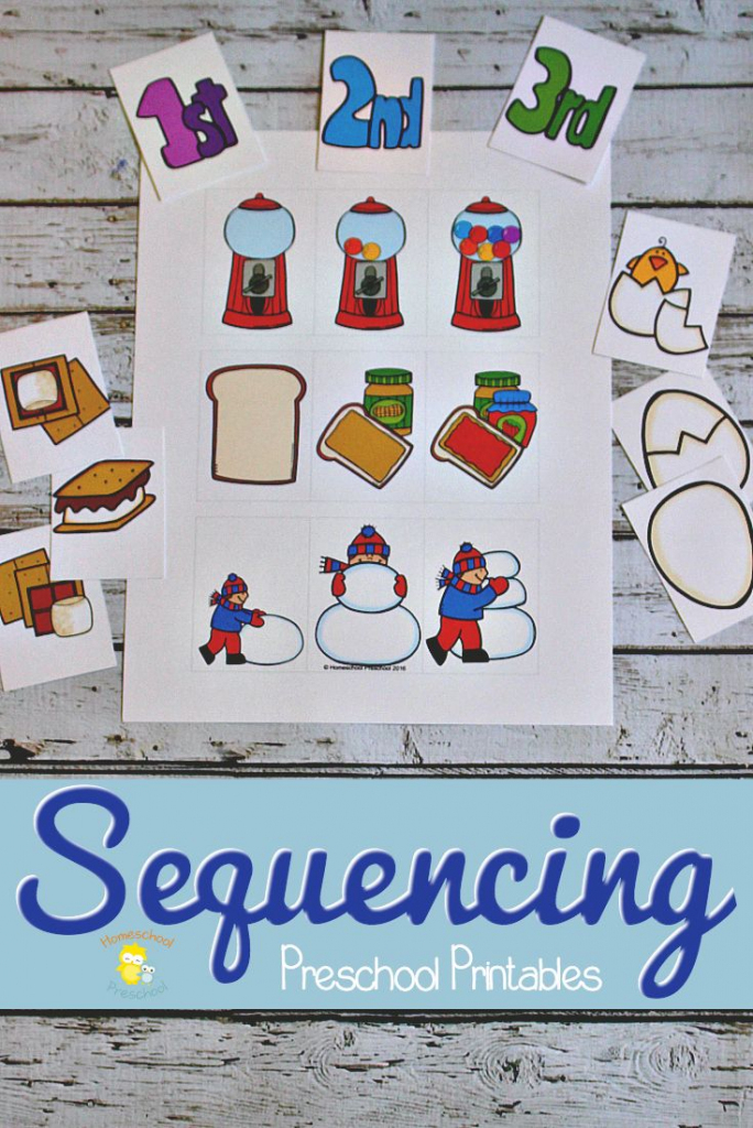 3 Step Sequencing Cards Free Printables For Preschoolers | Free Printable Sequencing Cards