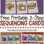 3 Step Sequencing Cards Free Printables For Preschoolers | Free Printable Sequencing Cards For Preschool