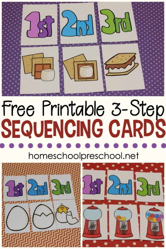 3 Step Sequencing Cards Free Printables For Preschoolers | Printable Sequencing Cards For First Grade