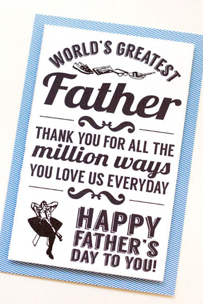 30 Free Printable Father's Day Cards - Cute Online Father's Day | Free Printable Fathers Day Cards For Preschoolers