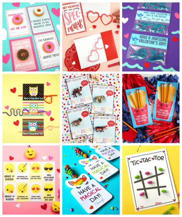 Printable French Valentines Cards