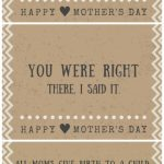 30 Funny Mother's Day Cards   Free Printables With Hilarious Quotes | Free Printable Funny Mother's Day Cards