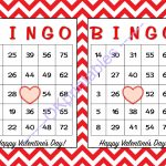 30 Happy Valentines Day Bingo Cards  Okprintables On Zibbet | Printable Bingo Cards 1 75