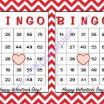 30 Happy Valentines Day Bingo Cards  Okprintables On Zibbet   Printable Valentine Bingo Cards With Numbers