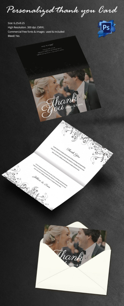 30+ Personalized Thank You Cards - Free Printable Psd, Eps Format | Free Personalized Thank You Cards Printable