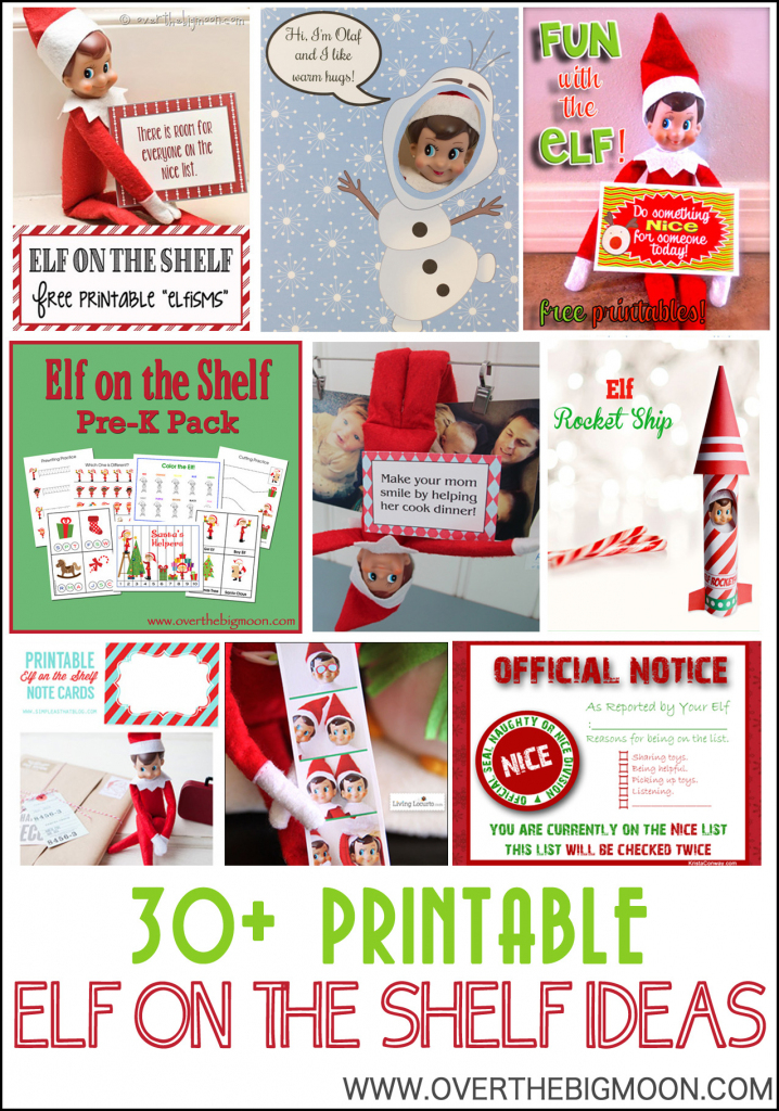 30+ Printable Elf On The Shelf Ideas - Over The Big Moon | Elf On A Shelf Printable Cards