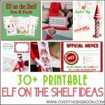 30+ Printable Elf On The Shelf Ideas   Over The Big Moon | Printable Elf On The Shelf Note Cards