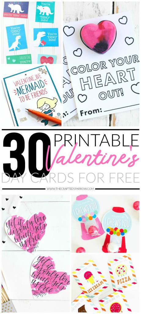 30 Valentines Day Printable Cards | Printable Valentines Day Cards