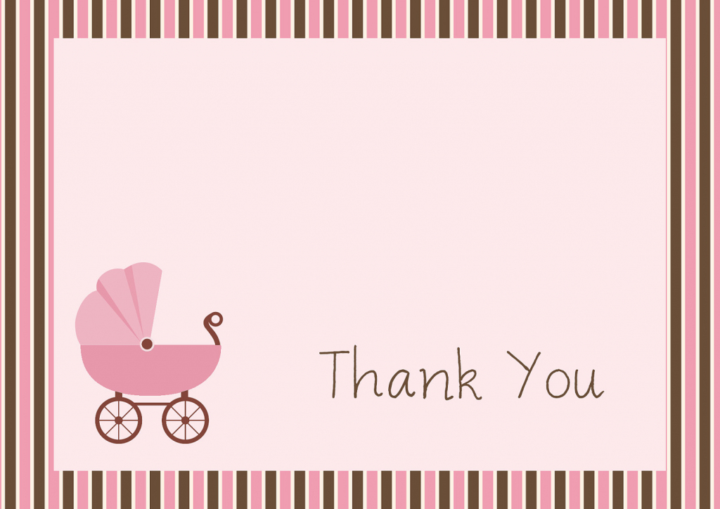 34 Printable Thank You Cards For All Purposes Kitty Baby How To Lose | Free Printable Baby Shower Thank You Cards