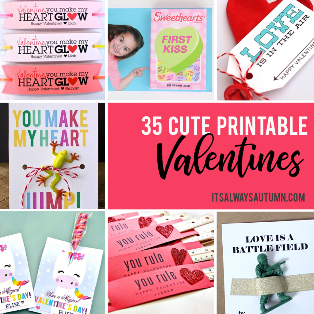 35 Adorable Diy Valentine's Cards To Print At Home For Your Kids | Make Valentines Cards Printable