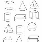 3D Shapes | Homeschooling | Shapes Worksheets, 3D Shapes Worksheets | Shape Flash Cards Printable Black And White