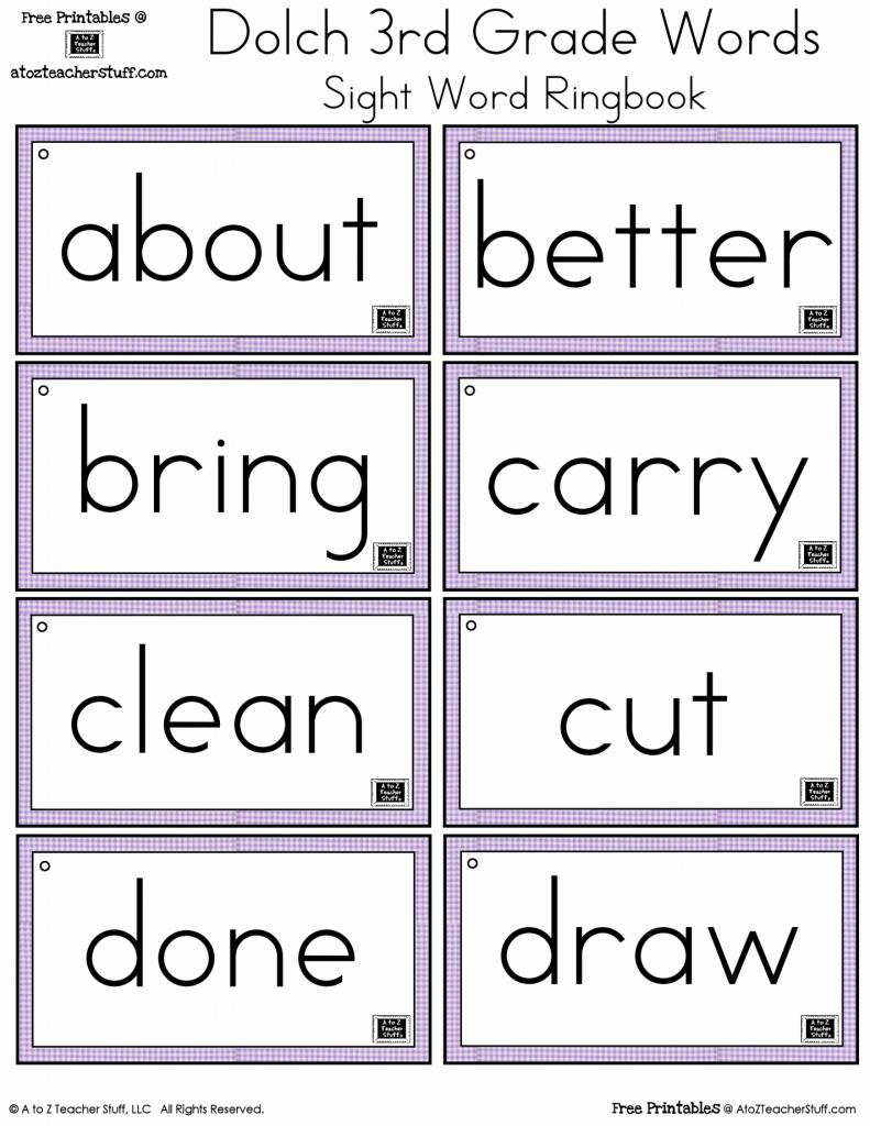 3Rd Grade Sight Words Flash Cards - Kleo.bergdorfbib.co   Sight Words Flash Cards Printable