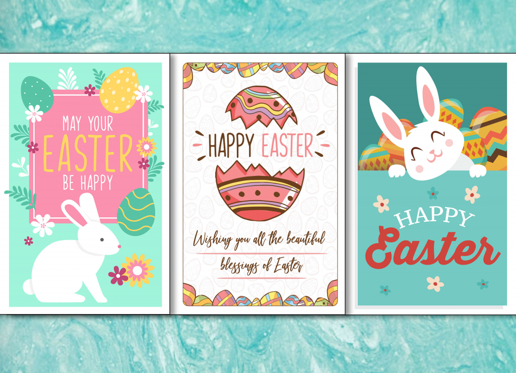 4 Colorful, Printable Easter Cards To Give To Friends And Family | Free Printable Easter Greeting Cards