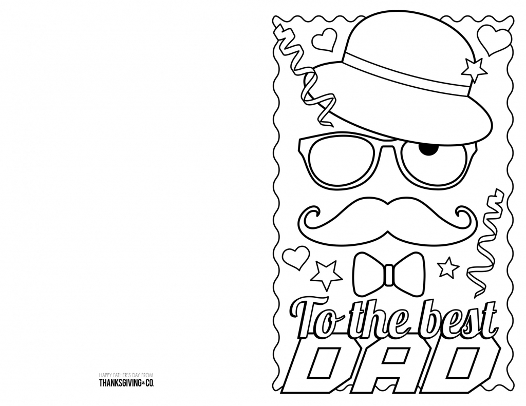 4 Free Printable Father's Day Cards To Color - Thanksgiving | Free Printable Fathers Day Cards
